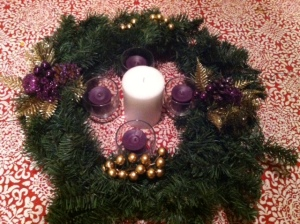 The Mabry Nauta family Advent wreath