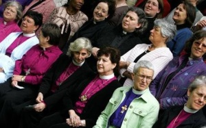 Female Anglican priests at the Church of England's Synod meeting in November 2012 await the denomination's decision whether females can be elected bishop. The vote was narrowly defeated. Photo Credit: Telegraph Media Group Limited, copyright 2013.